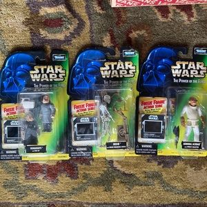 Vintage 90s kenner star was action figire lot